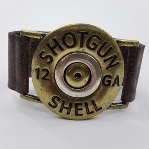Jewelry - Shotgun Shell Bracelet 12 Gauge Gold Tone brown Sn